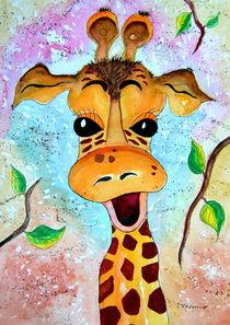 Giraffe Gisela Kinderzimmerbild Malerei von siegfried2838