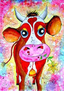 Kuh Karla, für Kinder, Aquarell-Malerei von siegfried2838