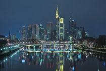 Skyline - Frankfurt am Main - Nachts by Klaus Tetzner