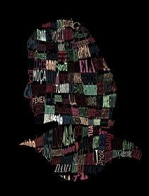 Words silhouette von antonio maia