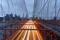 Brooklyn Bridge Am Abend von Borg Enders
