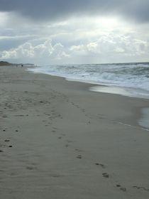 Fußabdrücke am Strand von Borg Enders