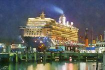 Cruise ship von Wolfgang Pfensig