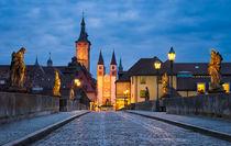 Blue Hour in Wuerzburg by Michael Abid