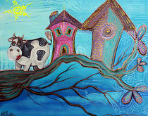 Cow In A Tree von Laura Barbosa