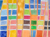 Rectangle Pattern With Sticks von Heidi  Capitaine