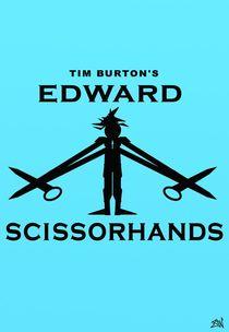 Edward Scissorhands Minimal Poster Design by Vincent J. Newman