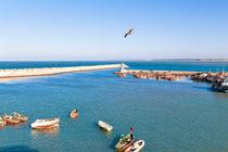 Blick über den Atlantik in El Jadida in Marokko von Gina Koch