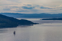 Saling vessel off the coast of Scotland by Johan Elzenga