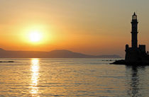 Sonnenuntergang in Chania by lichtspiel