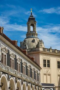 Blick auf die Frauenkirche in Dresden von Rico Ködder