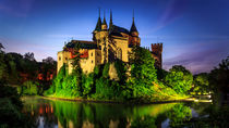 The romantic night of Bojnice castle by Zoltan Duray
