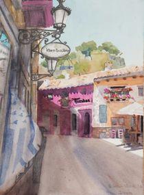 Straßenszene, Plaza San Antoni, Denia von Beate Steinebach