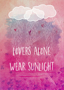 lovers alone wear sunlight von Sybille Sterk
