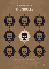 No662 My The Skulls minimal movie poster by chungkong
