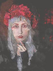 Petal Gothic Portrait by Galen Valle