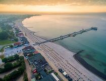 Kellenhusen Ostsee Seebrücke Strand Luftaufnahme by Dennis Stracke