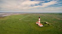 Westerhever Luftaufnahme Leuchtturm by Dennis Stracke