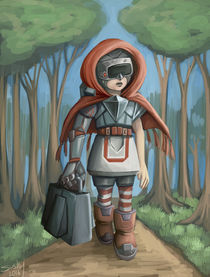 cyborg little red riding hood by sushy