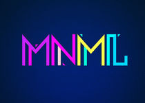 Minimal Type Colorful EdmTypography Design von badbugsart