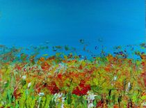 Wiesenlandschaft abstrakt von Sue San
