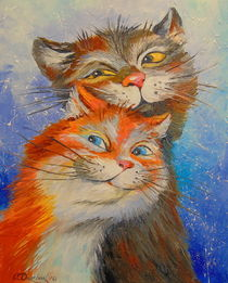 Cats love  by Olha Darchuk