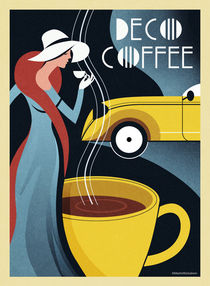 Art Deco Coffee 2016 von Benjamin Bay