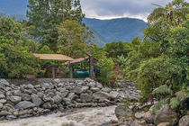 Pastaza River and Leafy Mountains in Banos Ecuador by Daniel Ferreira Leites Ciccarino