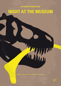 No672 My Night at the Museum minimal movie poster von chungkong