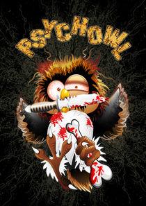 Psycho Owl Killer Cartoon by bluedarkart-lem
