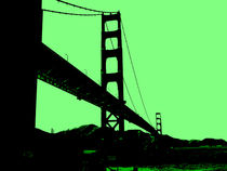 Golden Gate Bridge in Green by Nate Jekich
