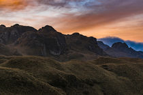 Sunset Scane at Cajas National Park in Cuenca Ecuador by Daniel Ferreira Leites Ciccarino
