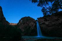 Havasu Falls in der Nacht, Supai, Arizona, USA by geoland