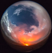 Kilauea Vulkaneruption, Fisheye Aufnahme, Big Island, Hawai'i, USA by geoland