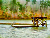 Diving platform at Cheaha Lake by lanjee chee