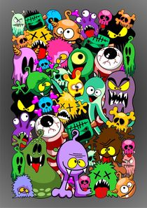 Doodles Monsters Characters Saga von bluedarkart-lem