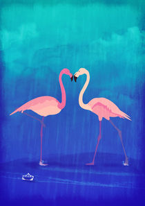 Flamingos in love von Sybille Sterk