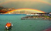 The two-story rainbow. Sicily, Italy by Yuri Hope