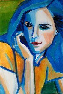 Portrait Bleu by Thomas Florent