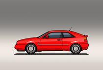 VW Corrado G60 Red von monkeycrisisonmars