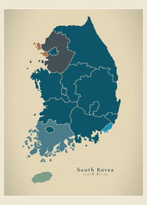 Modern-map-kr-south-korea-with-regions