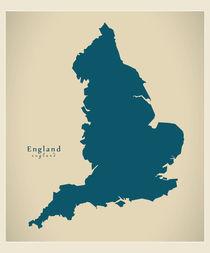 England Modern Map by Ingo Menhard