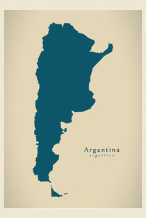 Argentina Modern Map by Ingo Menhard