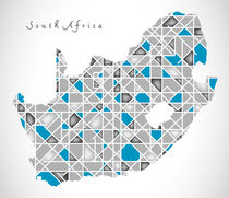 South Africa Map crystal style artwork by Ingo Menhard