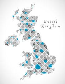 United Kingdom Map crystal style artwork von Ingo Menhard