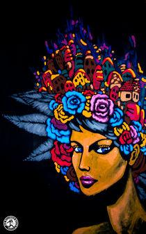 Black Flower Beauty von dermillionenmaler