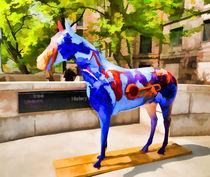 Blue Fiberglass Horse by lanjee chee