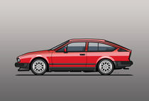 Alfa Romeo GTV6 Red by monkeycrisisonmars