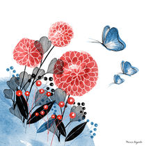 Flowers and Butterflies by Maria Bogade