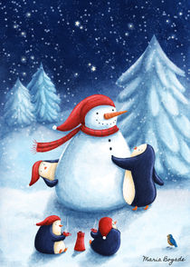 Snowman from the Penguins von Maria Bogade